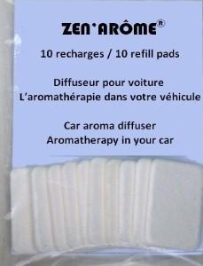 Buvard pour diffuseur de voiture