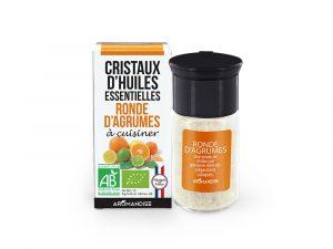 cristaux d'huiles essentielles d'agrumes bio