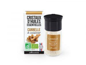 cristaux d'huile essentielle de cannelle bio