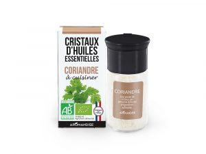 cristaux d'huile essentielle de coriandre bio