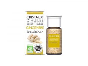 cristaux d'huiles essentielles de gingembre