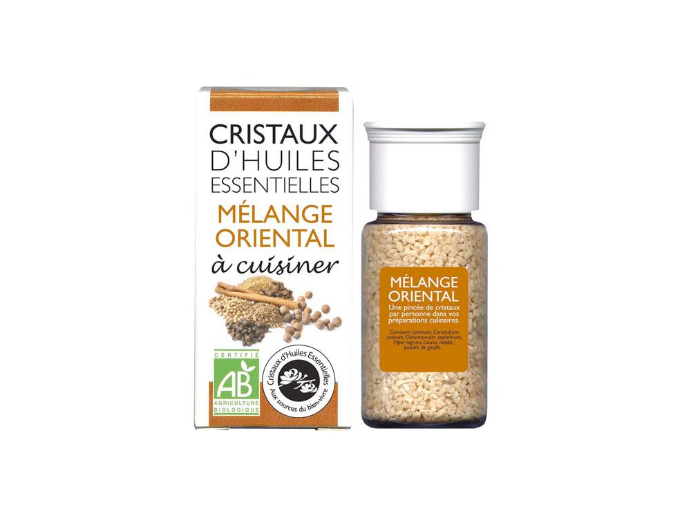 cristaux d'huiles essentielles mélange oriental