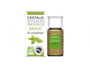 cristaux d'huiles essentielles de basilic bio