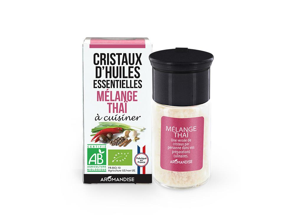 cristaux d'huile essentielle thaï bio