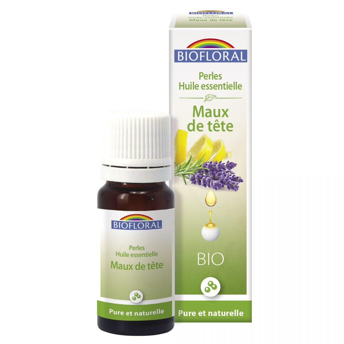 perles aux huiles essentielles maux de tête