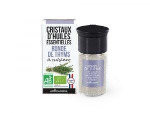 cristaux d'huile essentielle de thyms