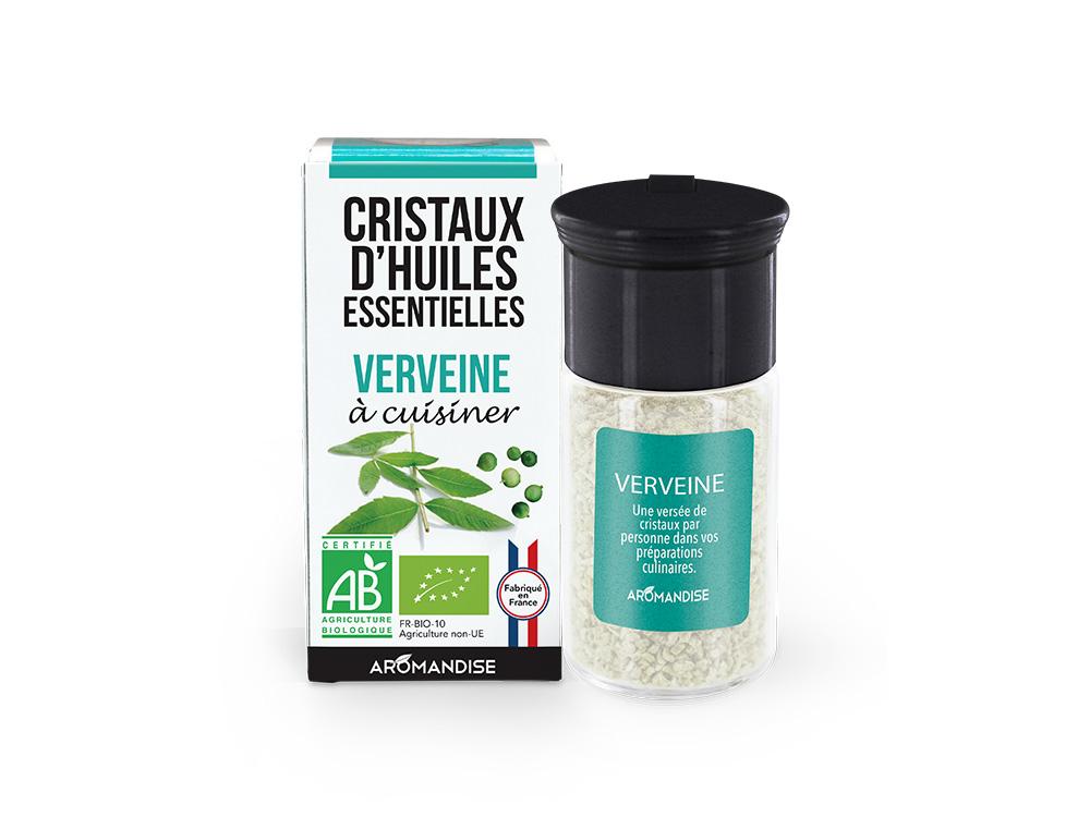 cristaux d'huile essentielle de verveine bio