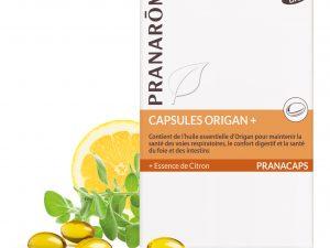 origan capsules bio et citron